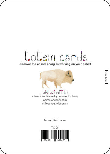White Buffalo Totem Card    TC-08