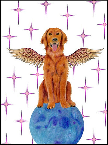 Winged Dog Pet Sympathy Card    13-08