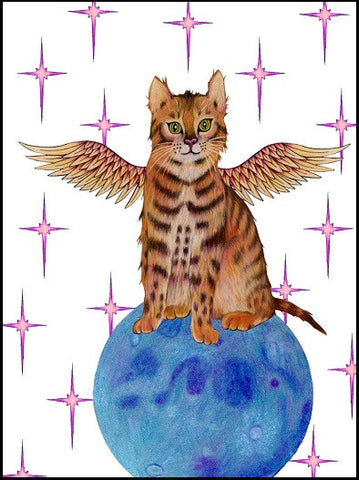 Winged Kitty Pet Sympathy Card    13-06