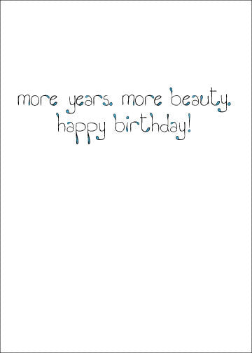 Woodvine and Beauty Birthday Card    15-10