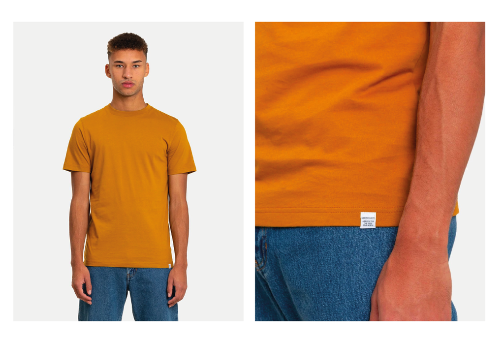 Norse Projects Niels Standard T-Shirt - Oxide Yellow