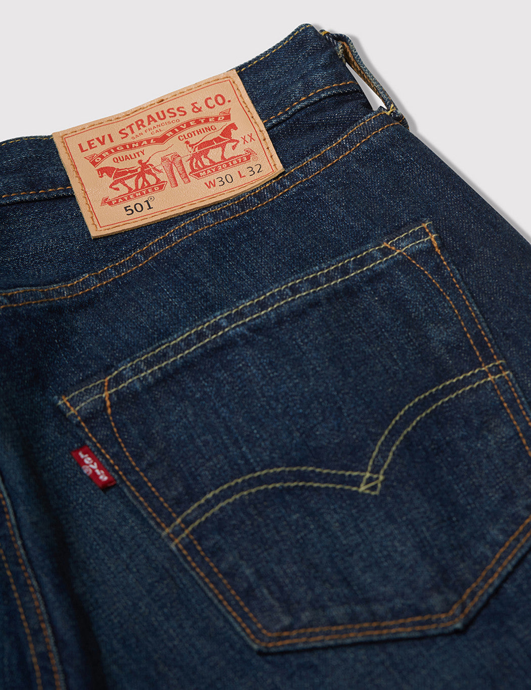 Levis 501 Original Fit Jeans (Relaxed) - Line Dry