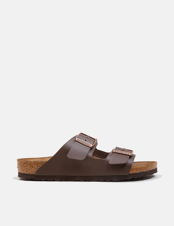 Birkenstock Arizona Leather Sandals (Regular) - Dark Brown