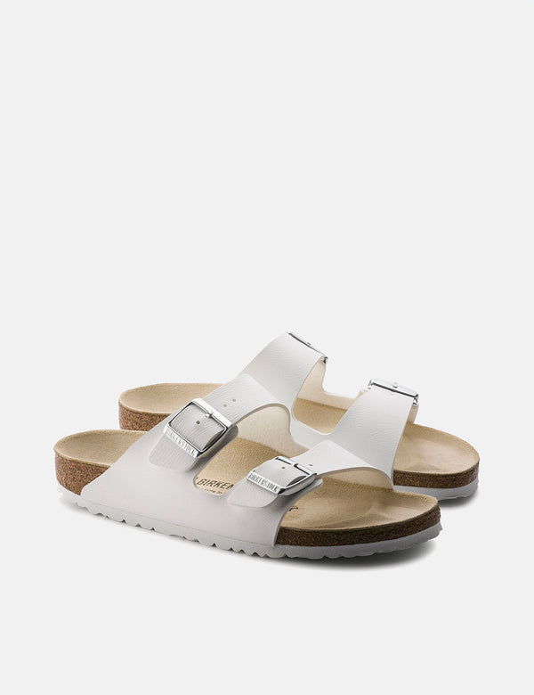 Birkenstock Arizona Leather Sandals (Regular) - White