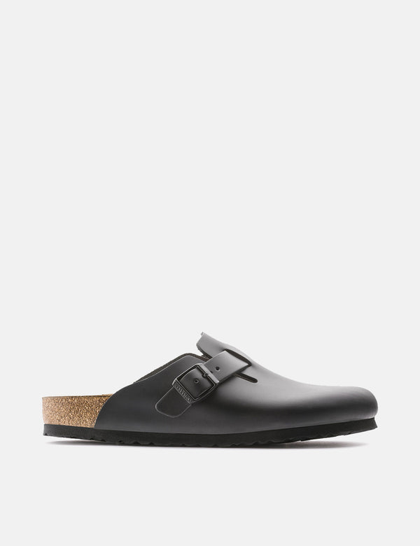 Birkenstock Boston Natural Leather (Regular) - Noir