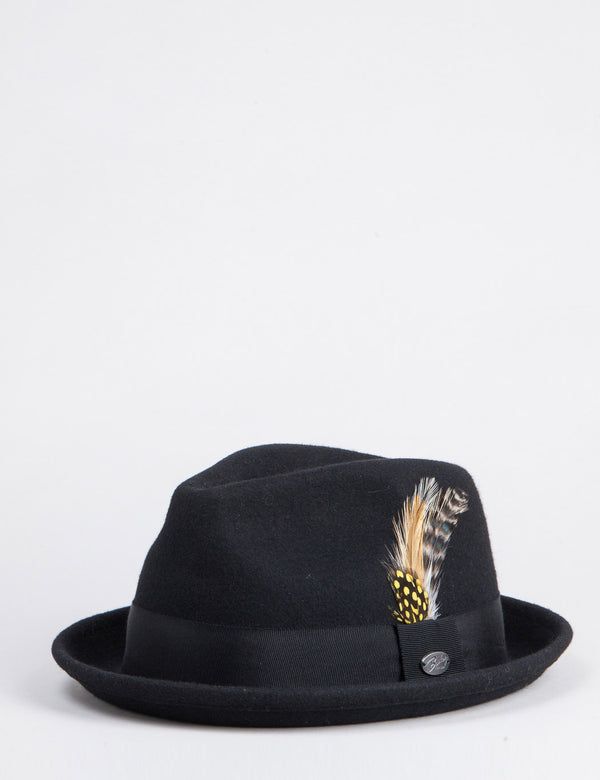 Bailey Cloyd Trilby Hat - Black