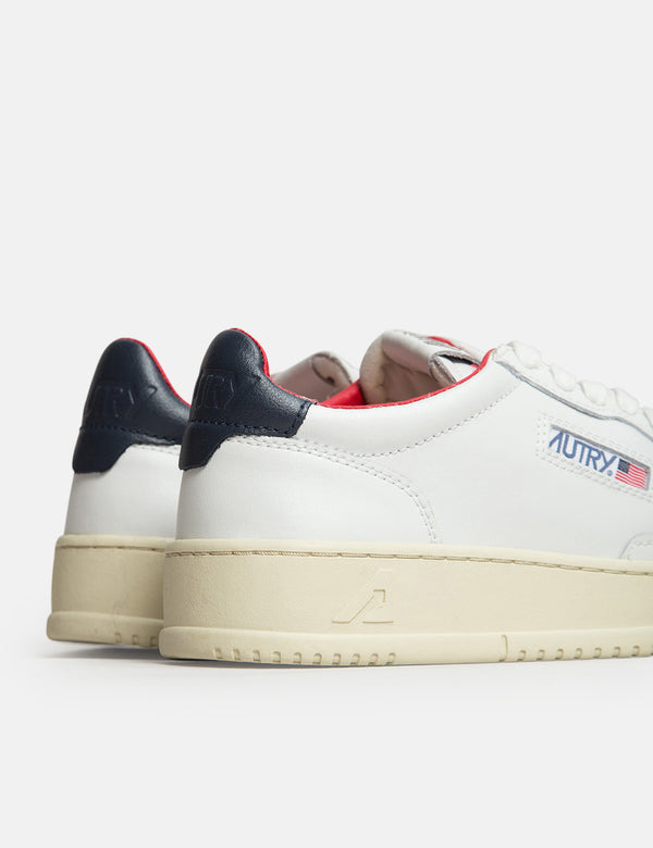 Autry Medalist LN18 Trainers (Leather) - White/Navy/Red
