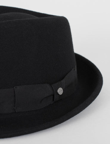 Stetson Richmond Felt Trilby Hat - Black
