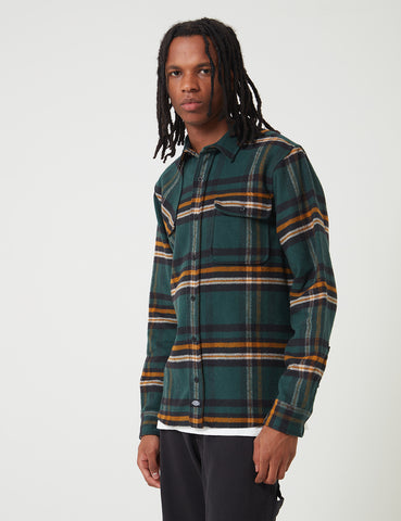 Dickies Prestonburg Check Shirt - Forest Green