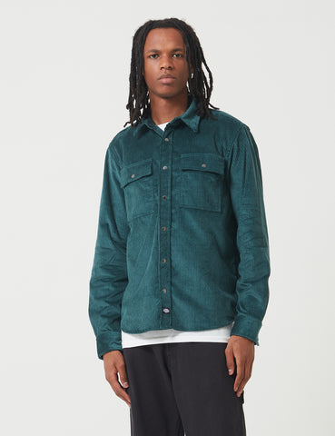 Dickies Ivel Cord Shirt - Forest Green
