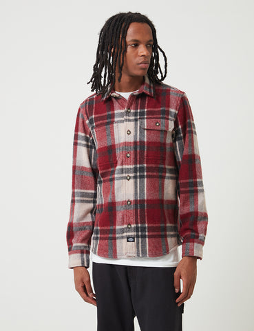 Dickies Melber Check Shirt (Wool) - Maroon