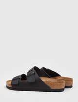 Birkenstock Arizona Leather Sandals (Regular) - Black