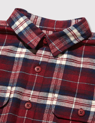 Dickies Holton Checked Shirt - Maroon