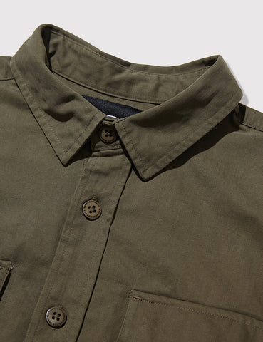 Dickies Tunnelton Herringbone Shirt - Dark Olive