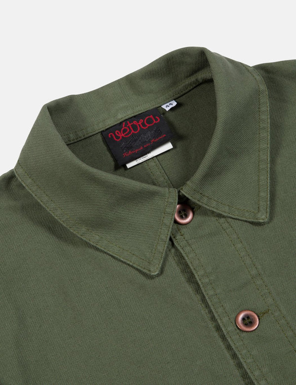 Vetra French Workwear Jacket Short (Cotton Drill) - Jade Green