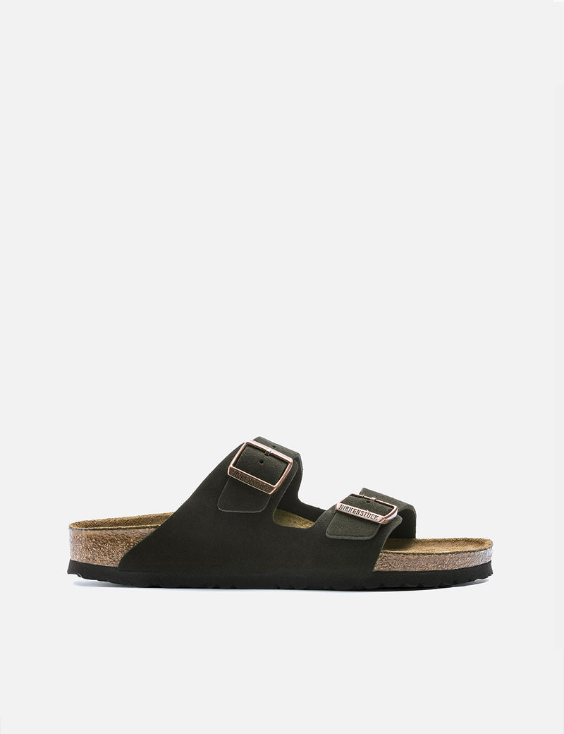 Birkenstock Arizona Suede Leather Sandals (Regular) - Mocha