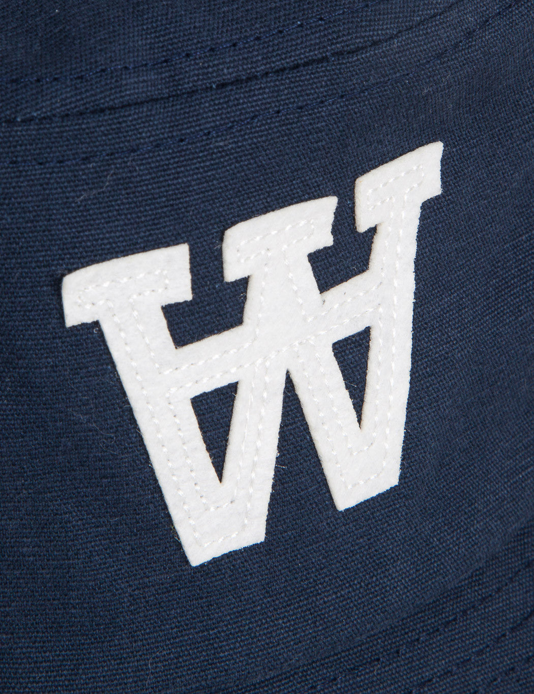 Wood Wood AA Logo Bucket Hat - Dark Navy