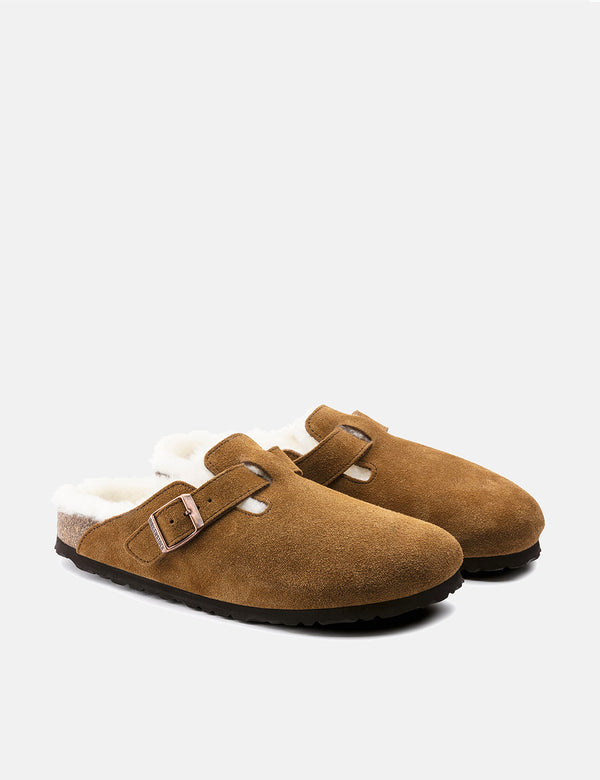 Birkenstock Boston Shearling (Regular) - Mink