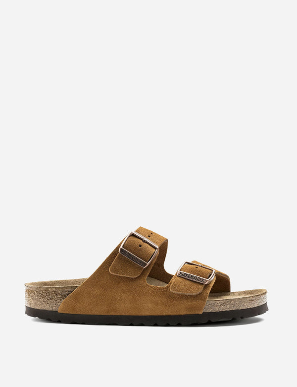 Birkenstock Arizona Sandals Suede (Regular) - Mink Brown
