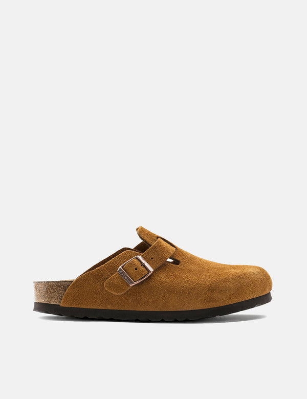Birkenstock Boston Suede Leather (Regular, Soft Footbed) - Mink