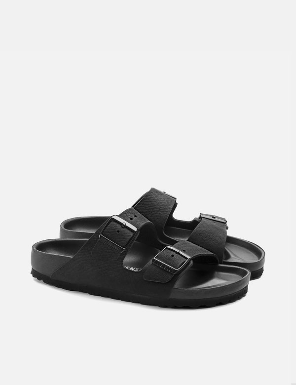 Birkenstock Arizona Leather/Eva Sandals (Narrow) - Black Exquisit