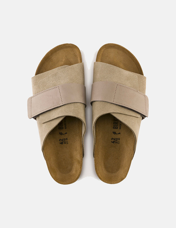 Birkenstock Kyoto Nubuck/Suede Leather (Narrow Footbed) - Taupe