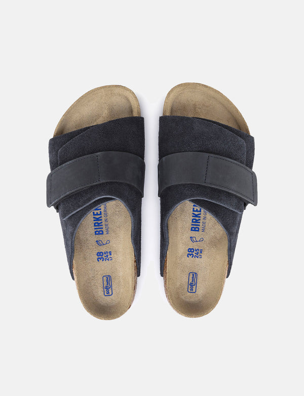 Birkenstock Kyoto Nubuck (Regular, Soft Footbed) - Midnight