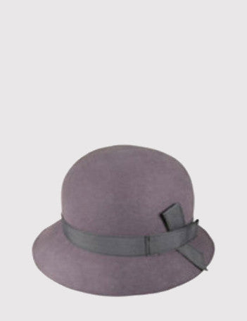 Goorin Womens Princess Felt Cloche Hat - Grey