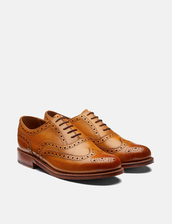 Grenson Stanley Brogue (Calf Leather) - Tan