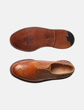 Grenson Archie Triple Welt Brogues - Tan Grain