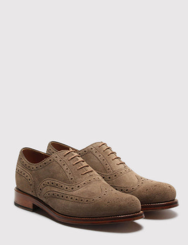 Grenson Stanley Suede Shoes - Almond Suede