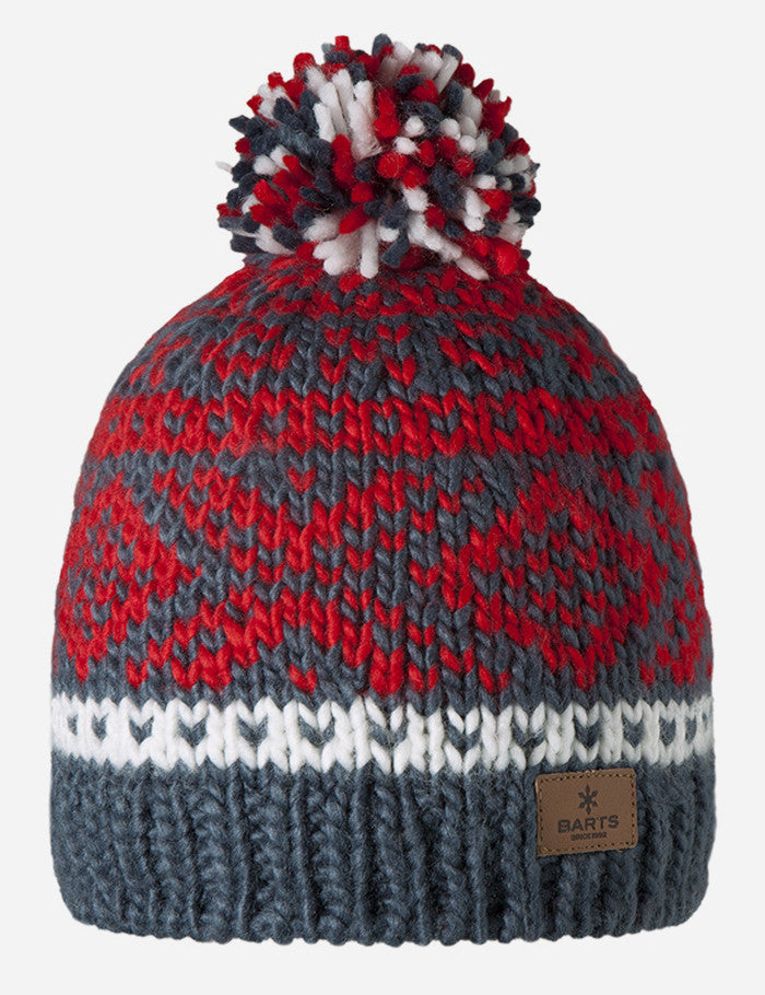 Barts Log Cabin Beanie Hat - Old Blue