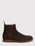 Grenson Nolan Suede Chelsea Boot - Chocolate Brown