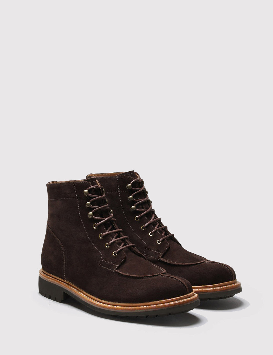 Grenson Grover Suede Apron Boot - Chocolate