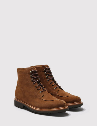 Grenson Grover Suede Apron Boot - Snuff