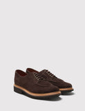 Grenson Percy Suede Apron Shoes - Chocolate