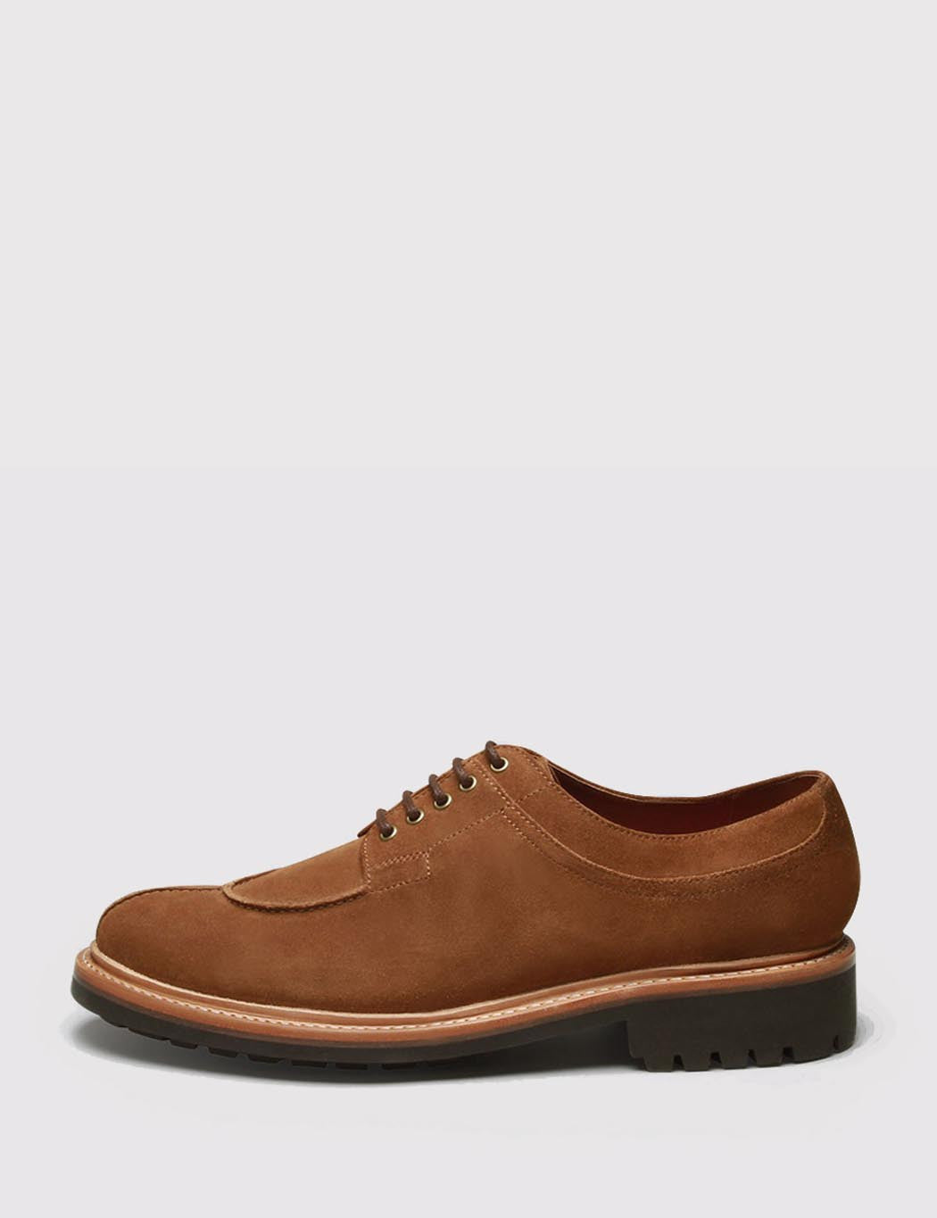 Grenson Percy Suede Apron Shoes - Snuff