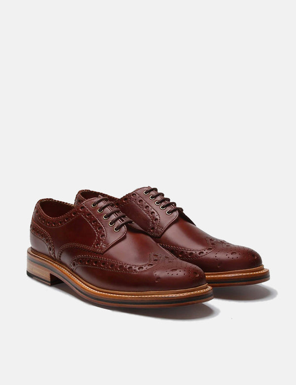 Grenson Archie Brogue - Chestnut Brown
