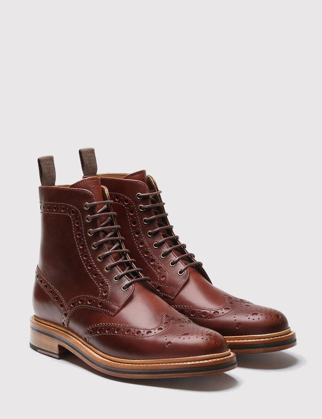 0d956a02dab ... Grenson Fred Brogue Boot - Chestnut Brown · Grenson