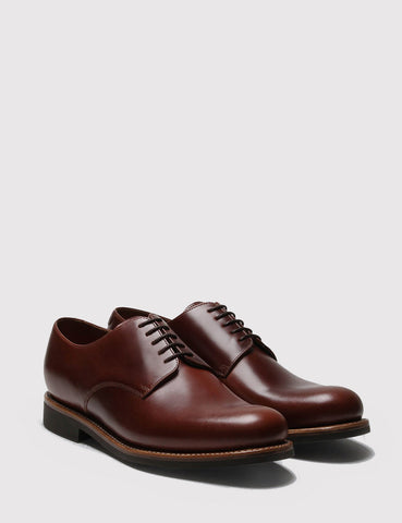 Grenson Curt Derby Shoes - Chesnut
