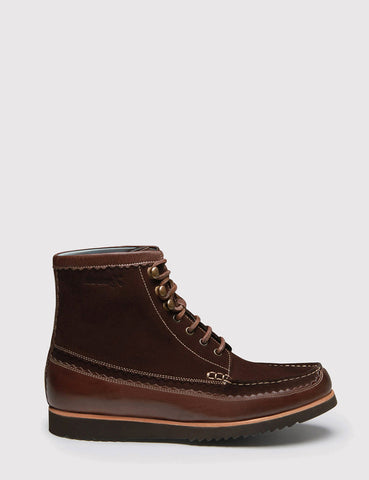 Grenson Hobson Moccasin Boot - Brown