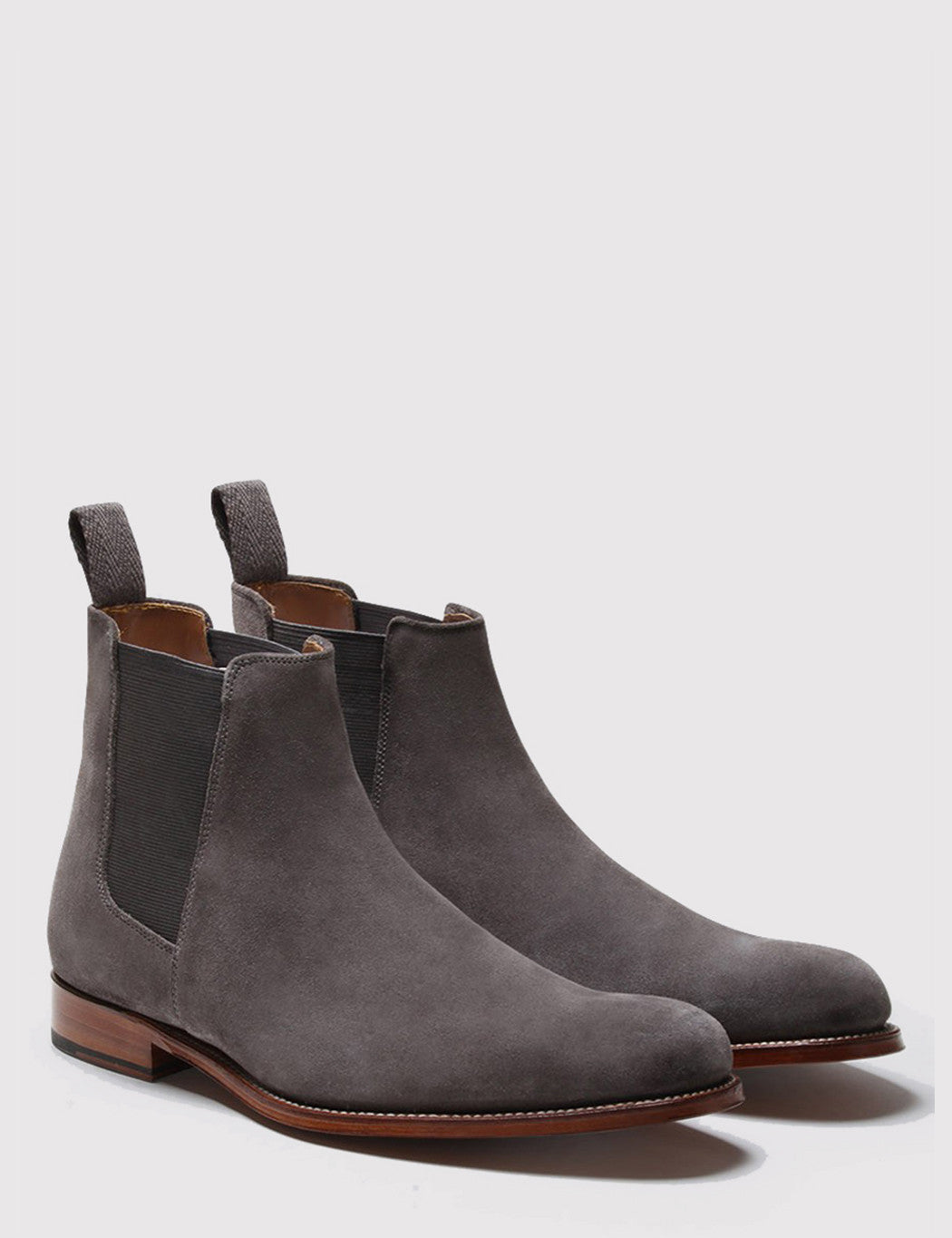 Grenson Declan Suede Chelsea Boot - Charcoal