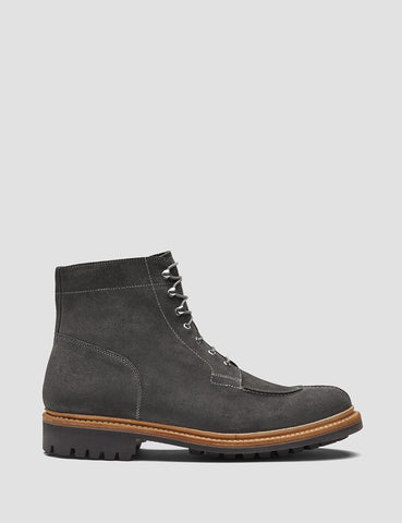 Grenson Grover Suede Apron Boot - Lavagne Grey