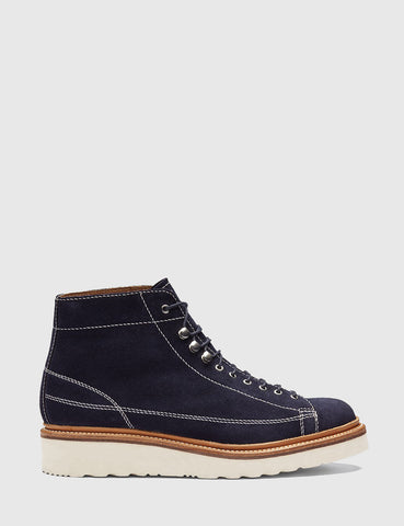 Grenson Andy Suede Monkey Boot - Navy