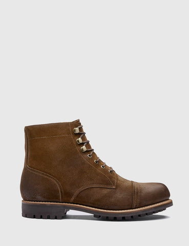 Grenson Radley Suede Boot - Snuff Brown