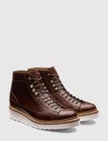 Grenson Andy Leather Monkey Boot - Chestnut Brown