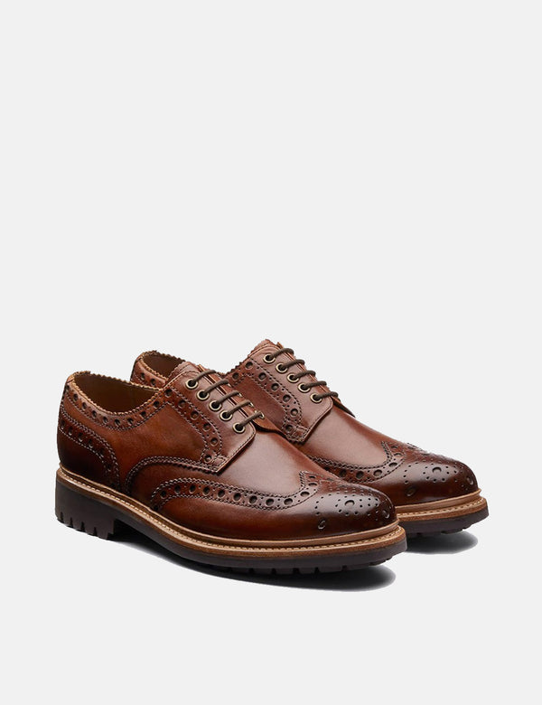 Chaussures Brogue Grenson Archie - Tan