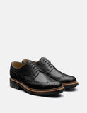 Grenson Archie Brogue Shoes (Hand Painted) - Black