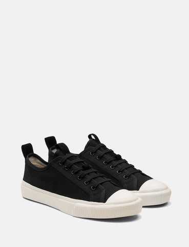Grenson Low Top Sneakers (Canvas) - Black/White
