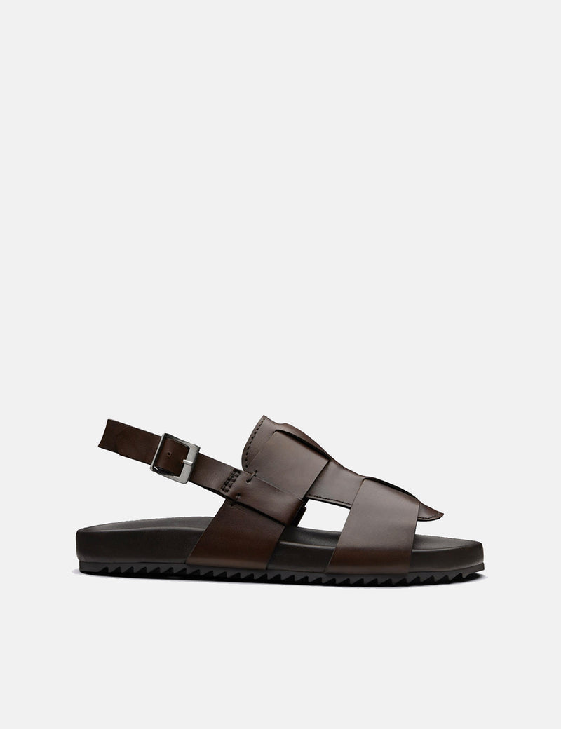 Grenson Wiley Sandal (Hand Painted) - Brown
